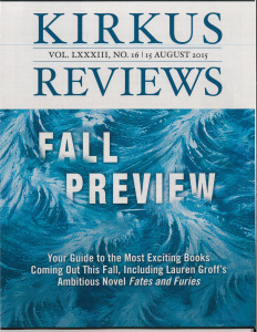 Kirkus Catalog Fall 2015 Issue Cover